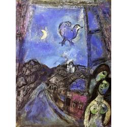 Chagall Marc | Шагал Марк | Вечер у окна