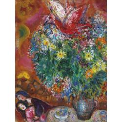 Chagall Marc | Шагал Марк | Цветы и любовники