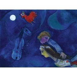Chagall Marc | Шагал Марк | В ночь красного петуха