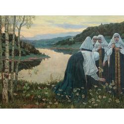 Нестеров Михаил Васильевич | Послушницы на берегу реки