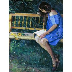 Нестеров Михаил Васильевич | Наташа Нестерова на садовой скамейке