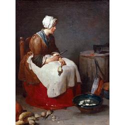 Жан Батист Симеон Шарден | Женщина, чистящая репу