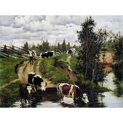 Степанов Алексей Степанович | Коровы на водопое