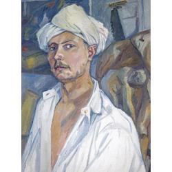 Ларионов Михаил Федорович | Автопортрет в тюрбане