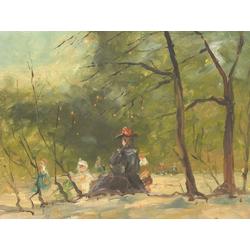 Ларионов Михаил Федорович | Женщина с детьми в парке