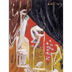 Ларионов Михаил Федорович | Натюрморт с графином и шторами