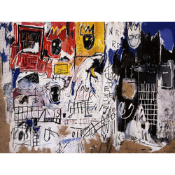 Basquiat J.M. | Баския Жан-Мишель | Peso Neto Acrylique et Crayon gras sur papier coll sur toile