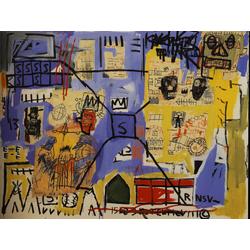 Basquiat J.M. | Баския Жан-Мишель | Sans Titre Acrylique, marqueur, papier coll, crayon gras et crayon sur toile
