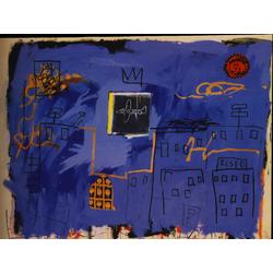 Basquiat J.M. | Баския Жан-Мишель | Sans Titre Acrylique spray et crayon gras sur toile