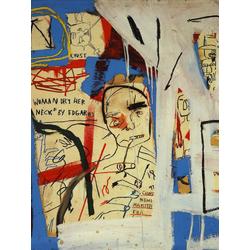 Basquiat J.M. | Баския Жан-Мишель | Three Quarters of Olympia Minus the Servant Acrylique Crayon gras mine de plomb et papier coll sur toile