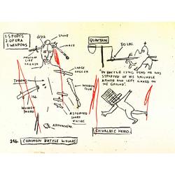 Basquiat J.M. | Баския Жан-Мишель | Sans Titre Mace Acrylique Crayon gras pastel crayon charbon et crayon de couleur