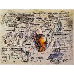 Basquiat J.M. | Баския Жан-Мишель | Sans Titre Monticello Acrylique Crayon gras pastel crayon charbon et crayon de couleur