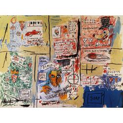 Basquiat J.M. | Баския Жан-Мишель | Sans Titre Olympic Acrylique Crayon gras pastel crayon charbon et crayon de couleur