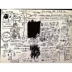 Basquiat J.M. | Баския Жан-Мишель | Sans Titre Replicas Acrylique Crayon gras pastel crayon charbon et crayon de couleur