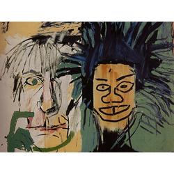 Basquiat J.M. | Баския Жан-Мишель | Две головы на золоте