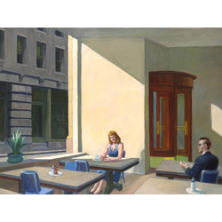 Edward Hopper | Хоппер Эдвард | Солнечный свет в Кафетерий