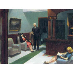 Edward Hopper | Хоппер Эдвард | В холле гостиницы