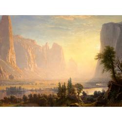 Albert Bierstadt | Альберт Бирштадт | Пейзаж в долине Йосемити