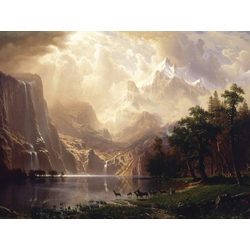 Albert Bierstadt | Альберт Бирштадт | Среди гор Сьерра-Невада