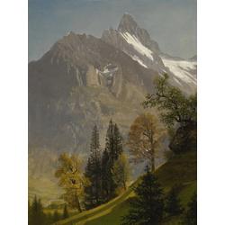 Albert Bierstadt | Альберт Бирштадт | Горный пейзаж