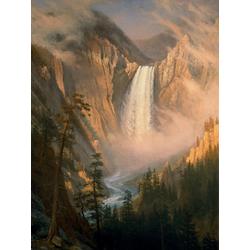 Albert Bierstadt | Альберт Бирштадт | Нижний водопад, Йеллоустон