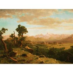 Albert Bierstadt - Wind River Country | Альберт Бирштадт