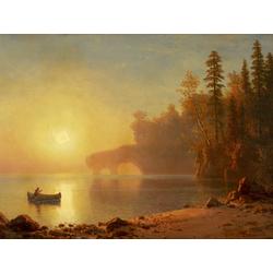 Albert Bierstadt | Альберт Бирштадт | Indian Canoe