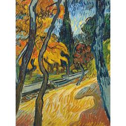 Van Gogh - Arbres dans le jardin de lasile | Ван Гог