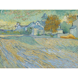 Van Gogh - View Of The Asylum And Chapel At Saint Remy | Ван Гог