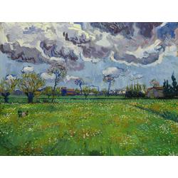 Van Gogh | Ван Гог | Paysage sous un ciel mouvemente