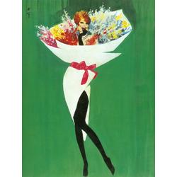 Rene Gruau | Рене Грюо: bouquet