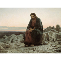 Крамской Иван | Христос в пустыне
