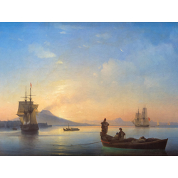 Aivazovsky Ivan | Айвазовский И. | Неаполитанский залив утром