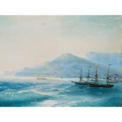Aivazovsky Ivan | Айвазовский И. | Корабль в бухте