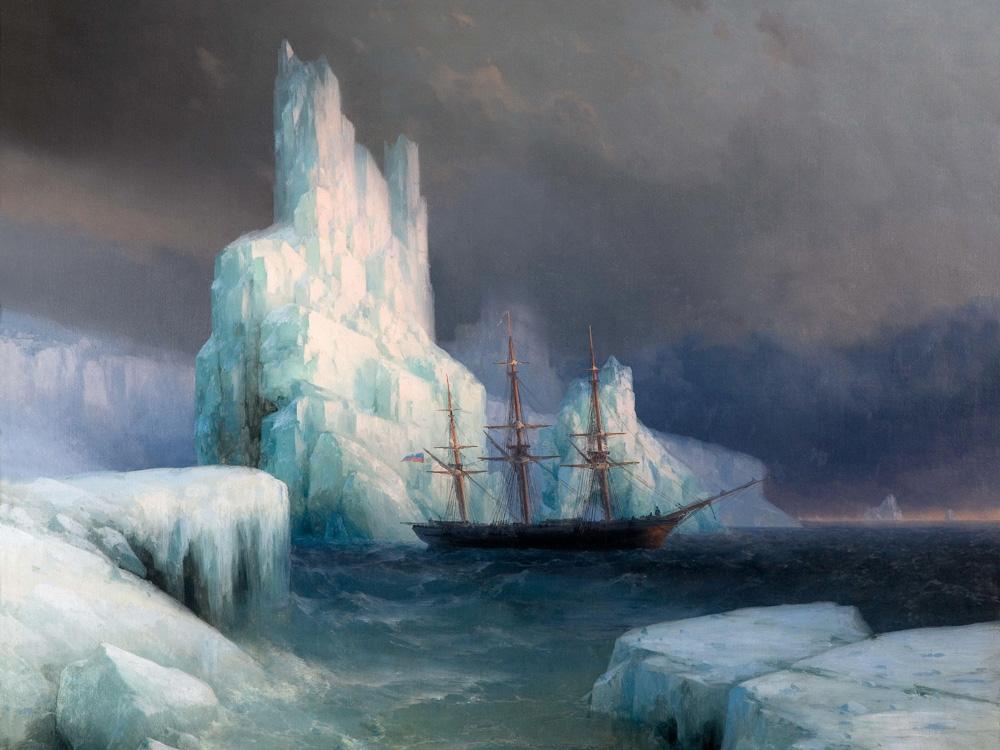 Aivazovsky Ivan | Айвазовский И. | Ледяные горы в Антарктиде