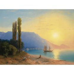 Aivazovsky Ivan | Айвазовский И. | Закат в Ялте