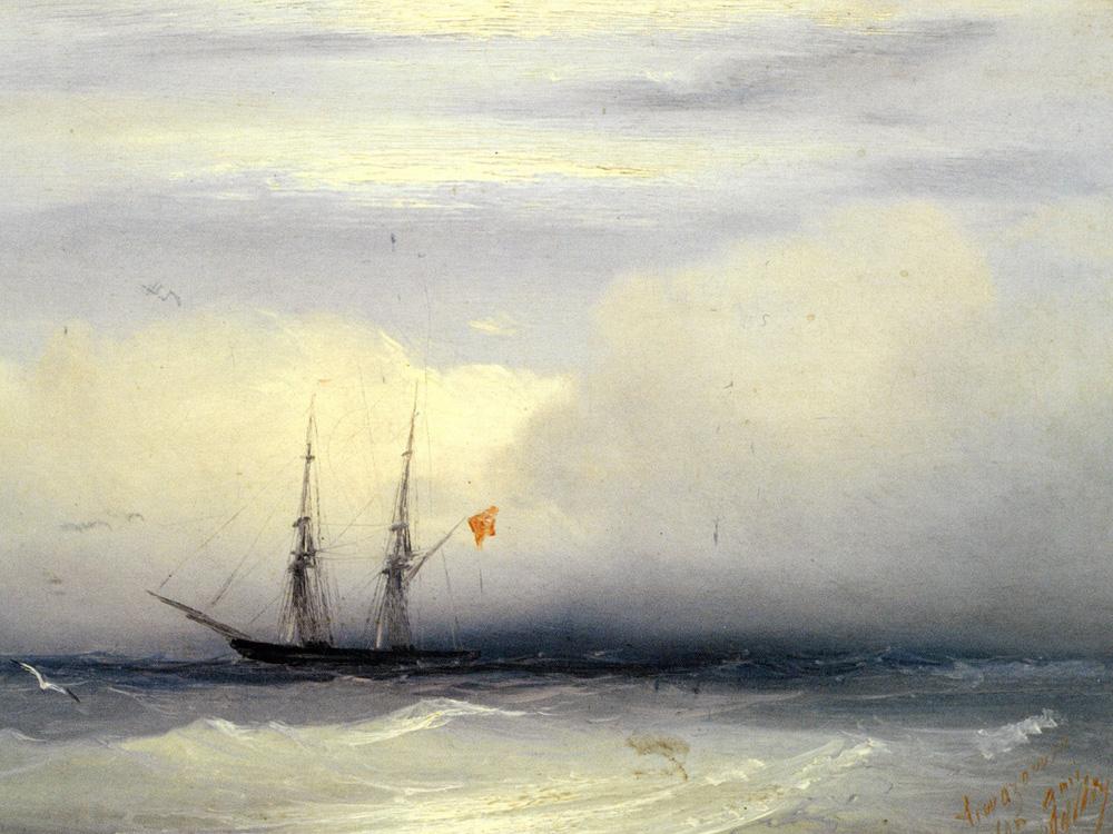 Aivazovsky Ivan | Айвазовский И. | Корабль в Бушующем Море