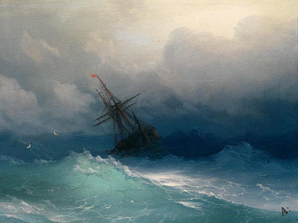 Aivazovsky Ivan | Айвазовский И. | Бушующее море