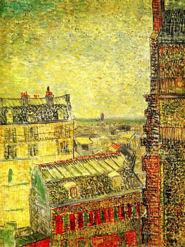Van Gogh | Ван Гог | Вид на Париж на улице Лепик