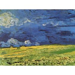 Van Gogh | Ван Гог | Пшеничное поле под облачным небом