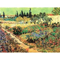 Van Gogh | Ван Гог - Цветущий сад с тропинкой