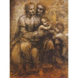 Leonardo Da Vinci | Святая Анна с Марией, младенцем Христовым