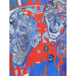 Filonov Pavel | Павел Филонов | Две головы