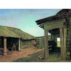 Shishkin Ivan | Шишкин Иван | Деревенский двор