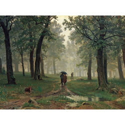 Shishkin Ivan | Шишкин Иван - Дождь в дубовом лесу