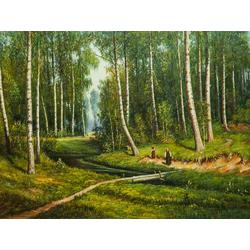 Shishkin Ivan | Шишкин Иван | Ручей в березовом лесу