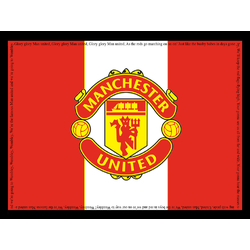 Collection of football clubs (Коллекция постеров) - Manchester United   Манчестер Юнайтед