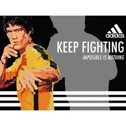 Bruce Lee | Adidas | Keep Fighting
