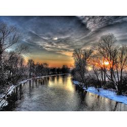 River: Sunset | Река: Закат