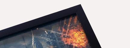 Печать постеров и плакатов в багетной рамке